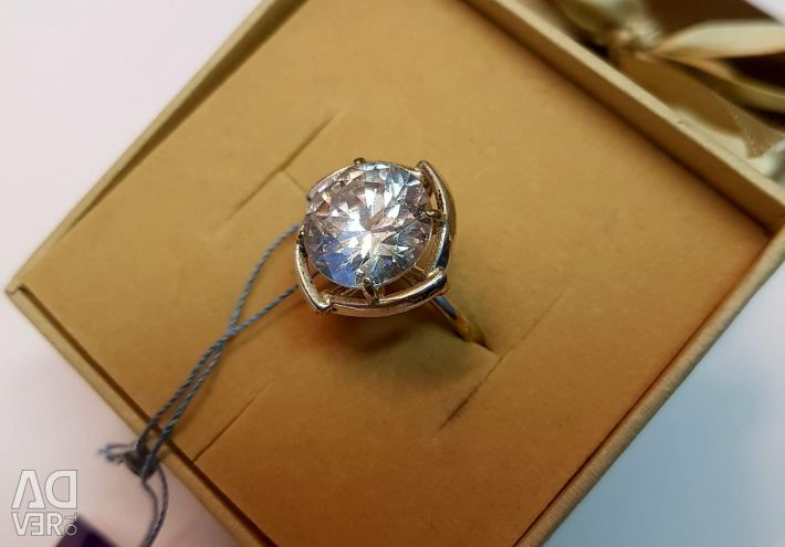 Ring with rock crystal. 925 sterling silver