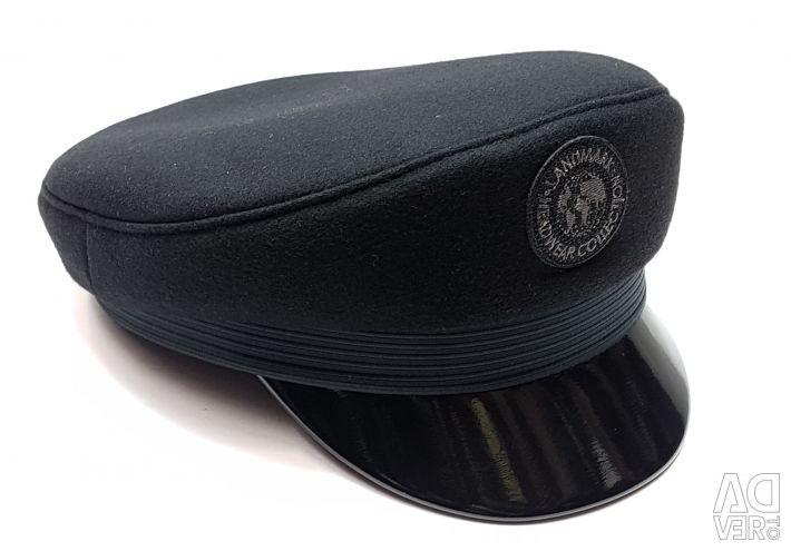 Cap captain Land woolen for men