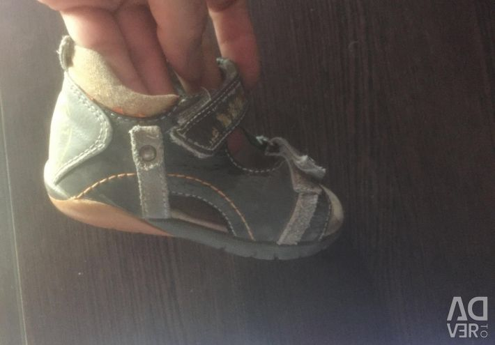 Sandals on the boy