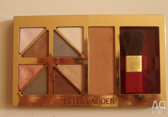 Shadows and rouge in a palette