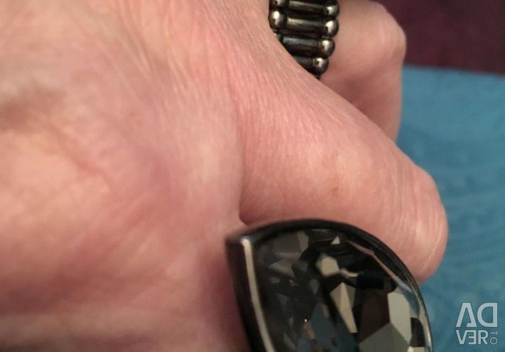Inel bijuterii costum cu o piatră mare