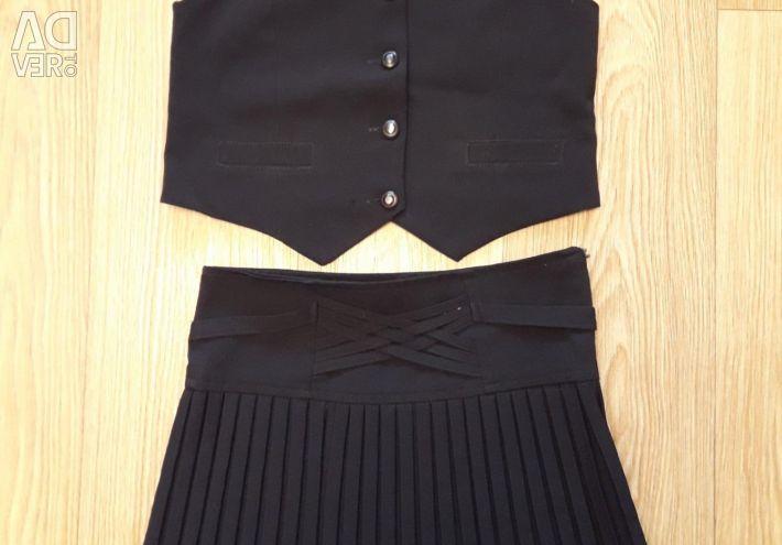 School uniform (vest, skirt)