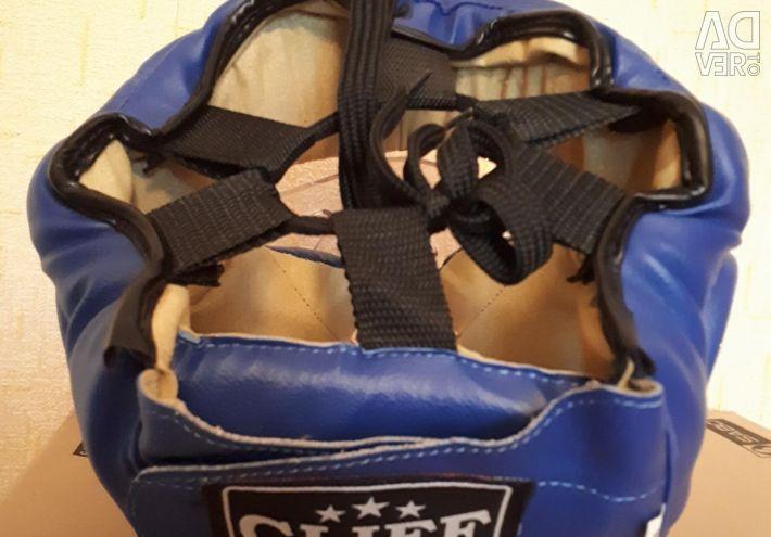 Шлем-маска для рукопашного боя синяя. Р: M