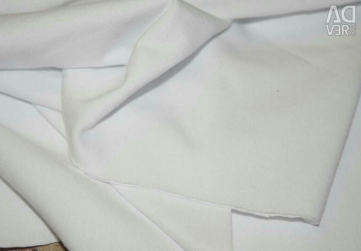 Трикотаж белый чулком ткань