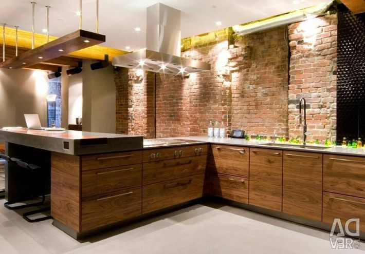 Loft tarzı mutfak Komple mutfak yaldız