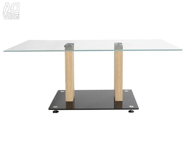 HM0091 LIVING TABLE WITH GLASS AND WOOD SONAMA 1