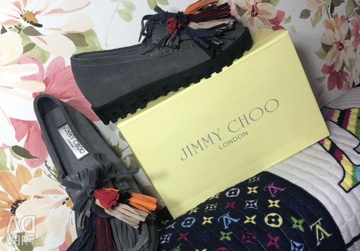 Jimmy Choo loafers ... σουέτ .. Μεγέθη όλα