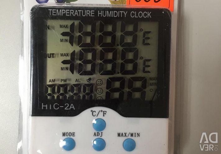 Termometru cu senzor la distanță + higrometru HTC-2A