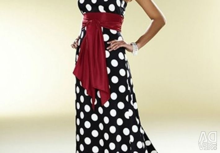The evening dress is on sale.
