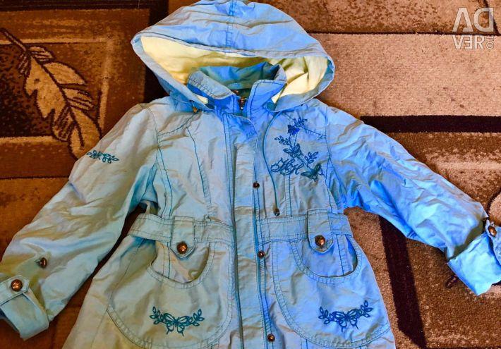 Geacă de primăvară 3-4 ani albastru