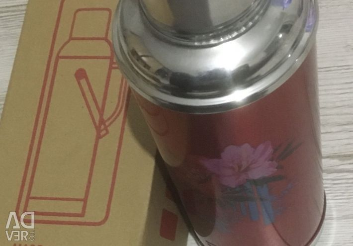 Thermos with glass flask