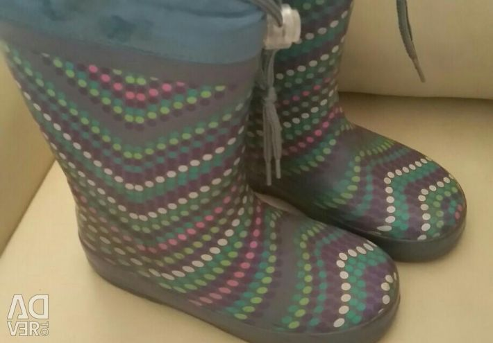 Rubber boots, warm