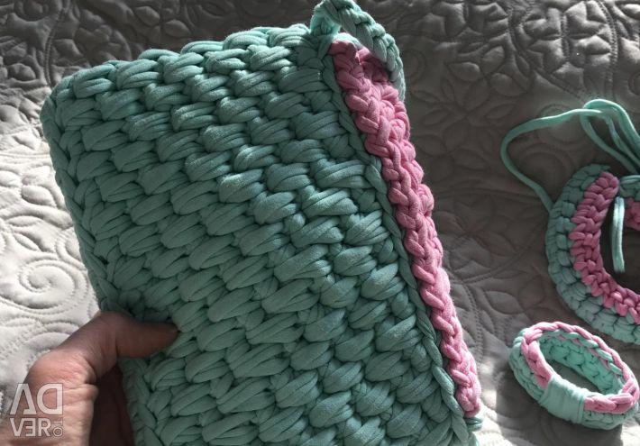 Knitted handbag new
