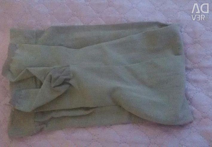 Compression stockings.