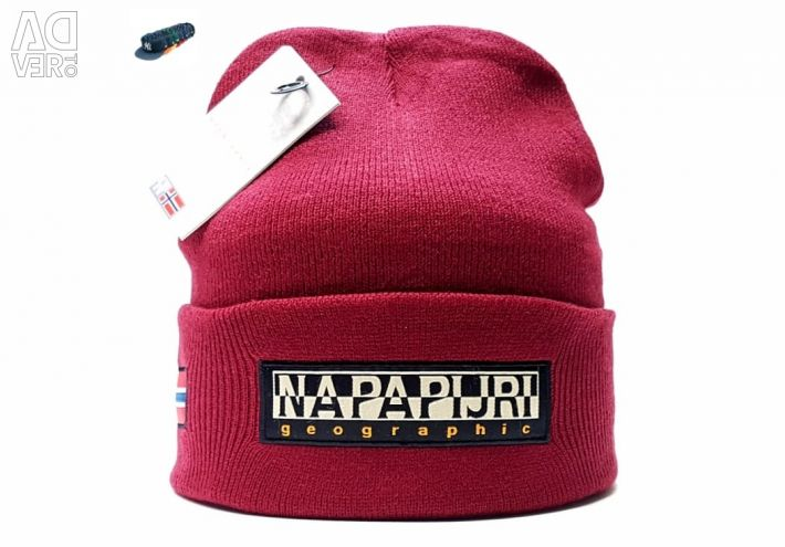 Hat Napapijri Geographic (burgundy)