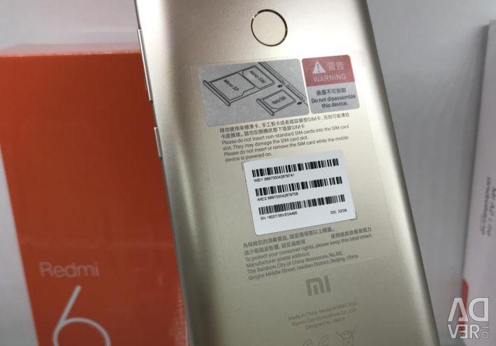 Xiaomi Redmi 6 gold 3/32