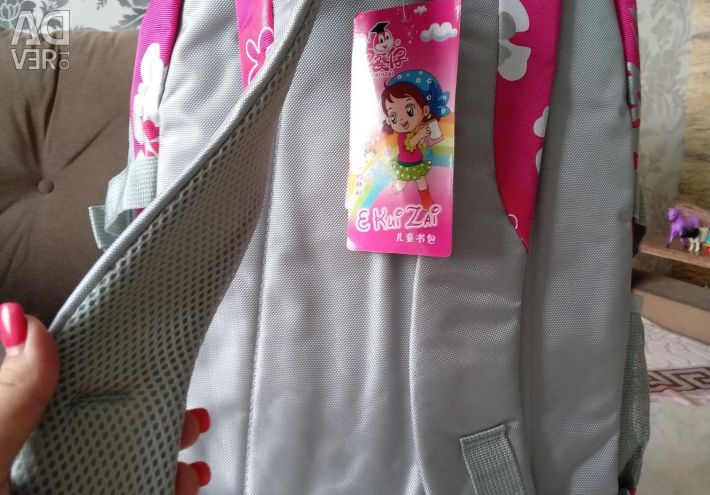 Backpack satchel portfolio pink flowers