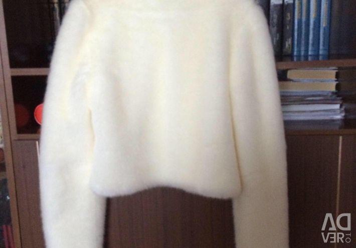 The coat is short