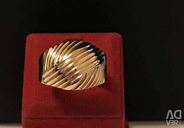Gold ring 583 sample