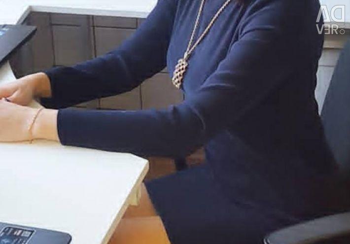 Βελούδινο φόρεμα ραμμένο στο μέγεθος m