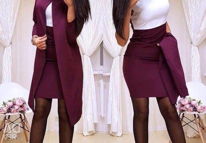 Rochie cu cardigan (costum de afaceri)