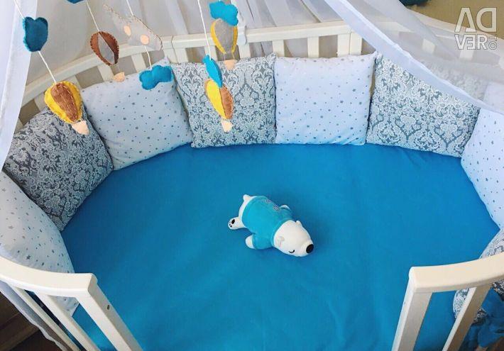 Round crib sides