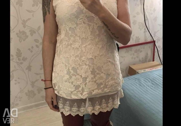New Dress / Tunic of lace with sequins Italy
