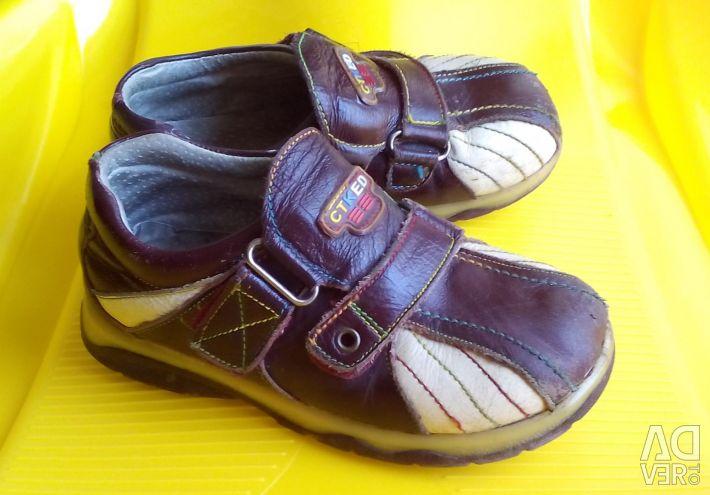 Footwear for a boy (genuine leather)