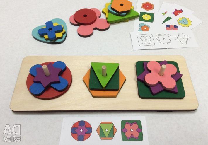 Ξύλινη πλατφόρμα λογικής παιχνιδιών