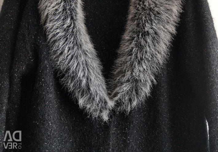 Jacket cu guler de blană 46p