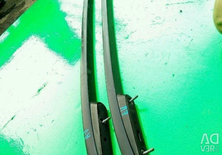 Σιδηροτροχιές στο φορτηγό Skoda Octavia A7
