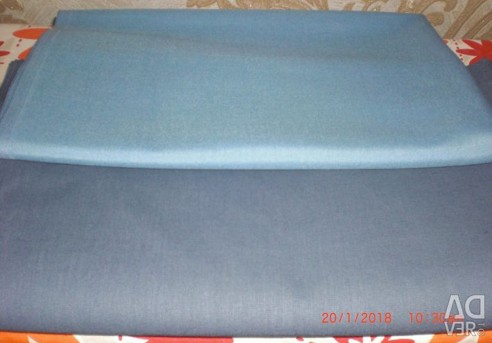 Two cut fabric (short and coarse calico)
