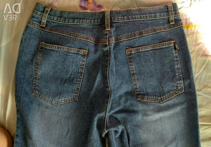 Jeans flare blue new 48-50 size