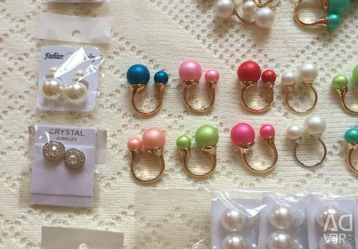New earrings and rings