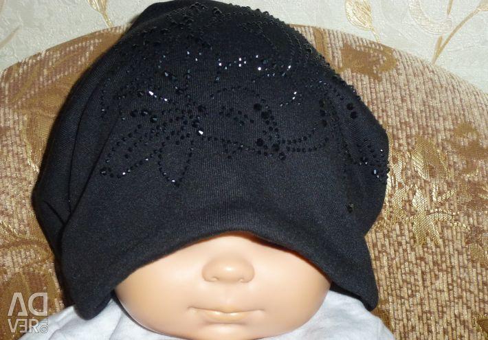 Women's winter black hat