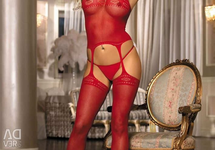 Stocking on the body, color red. Art. 31146