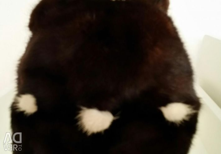 Mink hat with ears