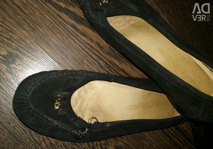 Ballet Flats Natural Suede