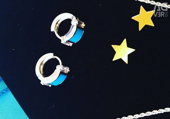 Pendant on a chain and earrings
