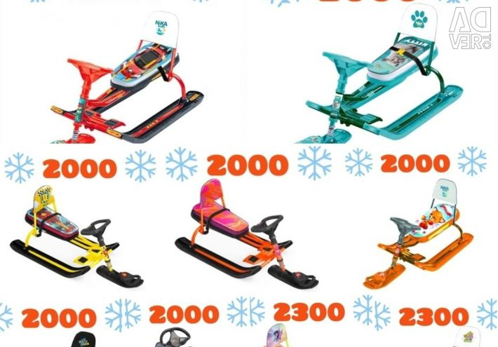 New snow scooters. 500 RUB Discount