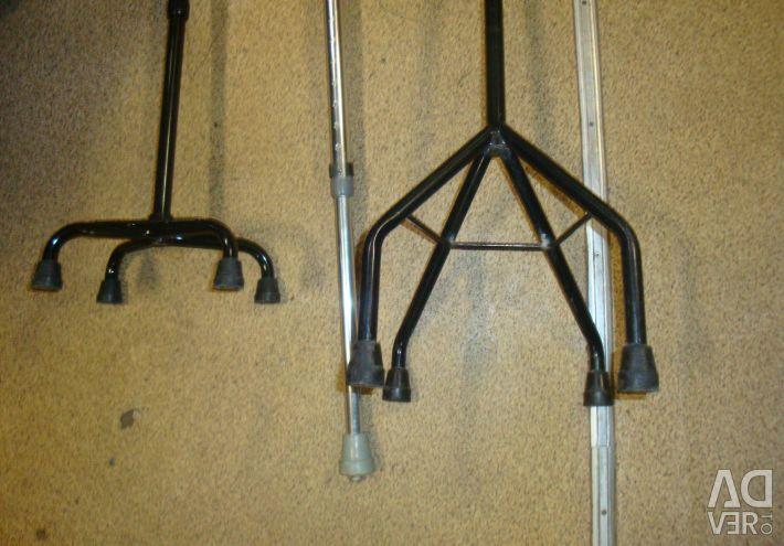 Костыль с упором/на 4х ножках регулируемые