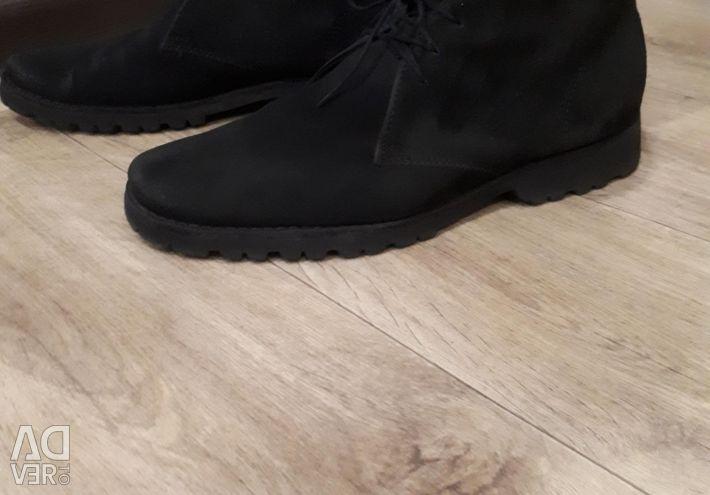 Ботинки натур.замша р.42