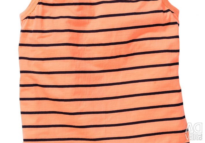 Новая оранжевая полосатая майка 152/158 р-р