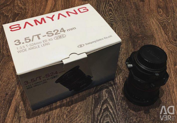 Objektif Samyang 24mm f / 3.5 ED U UMC T-S Canon EF