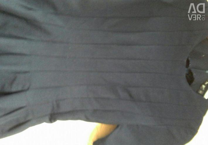 School dress, dark blue color. 42 size