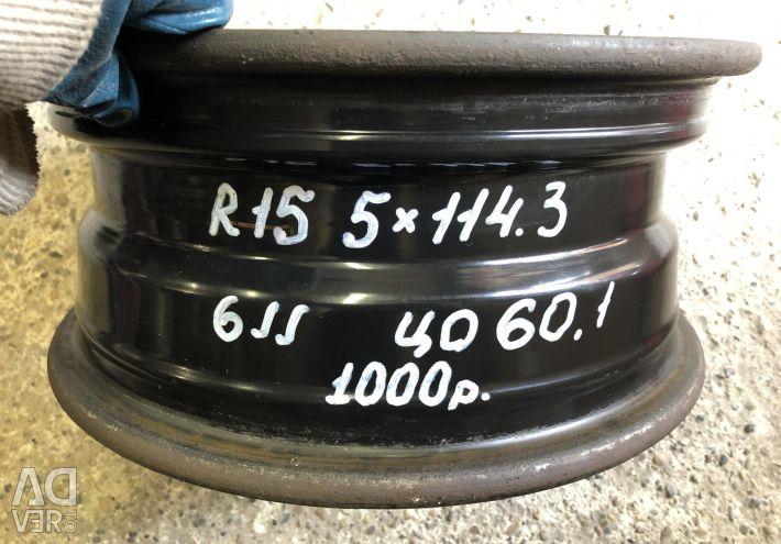 1 disk R15 5 * 114.3