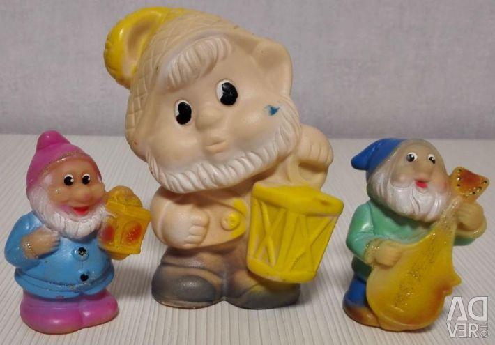 Rubber toy USSR Dwarf with Lantern Kids