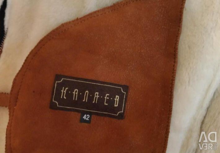 Natural sheepskin coat