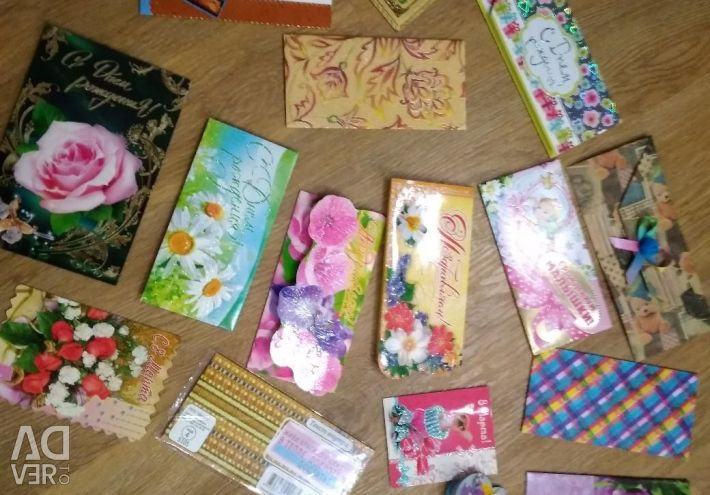 Envelopes, postcards for the holiday