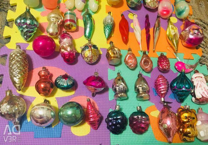 Soviet-style Christmas tree toys